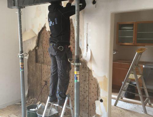 Rivning avväxling bärande väggar
